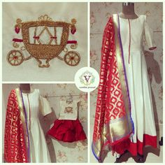 Beautiful mom and daughter duo. White color floor length dress with banarasi duppata and kids dress. Indian Gowns, Indian Attire, Indian Ethnic Wear, Pakistani Dresses, Indian Wedding Outfits, Indian Outfits, Kurta Designs, Blouse Designs, Anarkali Dress