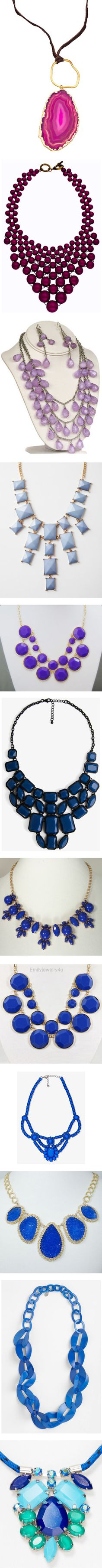 """Colored Statement Necklaces Under $50"" by dana-forlano on Polyvore"