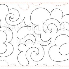 "Fluffy Clouds- Paper - 11"" - Quilts Complete - Continuous Line Quilting Patterns"