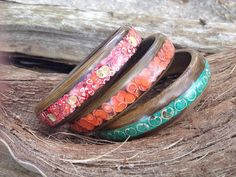 Custom Color and Wood Design Bracelets by WoodBraceletsandBurl