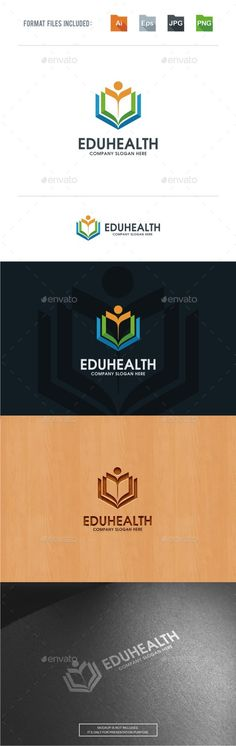 Health Education Logo Template - Abstract Logo Templates Download here : https://graphicriver.net/item/health-education-logo-template/18099540?s_rank=84&ref=Al-fatih