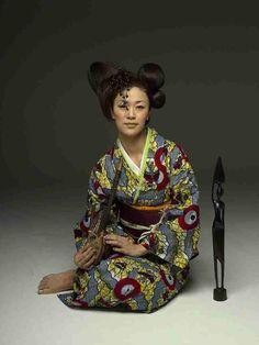 kimono créateur en wax par Wafrica