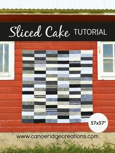 Canoe Ridge Creations, each slice cut 3 x 21 rows x 6 rows. Quilting For Beginners, Quilting Tutorials, Quilting Projects, Jellyroll Quilts, Easy Quilts, Layer Cake Quilts, Layer Cakes, Black And White Quilts, Love You To Pieces