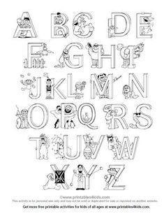Sesame Street Alphabet - Free Printables (my 2 year old adores these ...