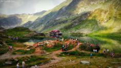 Balea Lac se afla in Muntii Fagaras in apropiera drumului Transfagarasan la cota 2034, lacul are o lungime de 360 m si o adancime in unele locuri de aproximativ 11 m. Balea Lac se afla la o distanta de 77 km de orasul Sibiu, 85 km de la Curtea de Arges pana la lac. Top 15, Romania, Cute Girls, Bali, Mountains, Gallery, Pictures, Travel, Painting