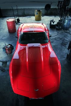 Little Red Corvette.~ I had a 1973 a White Corvette with Maroon leather seats inside years ago~ It was so Fun to Drive! Luxury Sports Cars, Sport Cars, Corvette Stingray, Buick, Chevy, Chevrolet Corvette, Chevrolet Auto, Pontiac Gto, Automobile