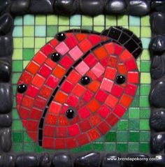 Ladybug Printable Pattern | Ancient Greek Mosaics & Designs from Athens, Pella, Thessaloniki ...
