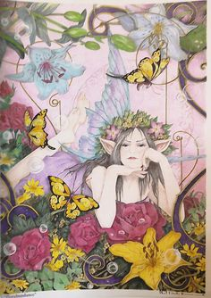 From Linda Ravenscrofts Fairy and Fantasy Art. Coloured using Faber Castell Polychromos