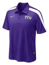 TCU Horned Frogs Nike Hot Route Polo
