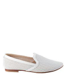 White perforated smoking slipper
