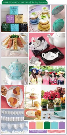 Swee-tea Bridal Shower - Tea Party Inspiration :  wedding color schemes features Board5 Teaparty 032811 board5_teaparty_032811