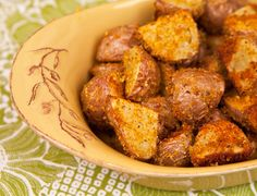 Roasted Red Skin Potatoes With Breadcrumbs: Tasty with a great crunch. I subbed white potatoes and regular breadcrumbs.