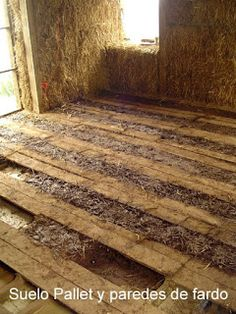 Making floor with pallets and cob