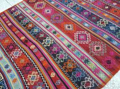 Pink  Rug Bohemian Decor Oushak Rug Area Rugs Pink and Orange