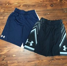 Boys Small Under Armour Shorts on Mercari Mens Cotton Shorts, Grey Shorts, Grey Stripes, Under Armour, Navy, Boys, Stripe Pattern, Black, Pairs