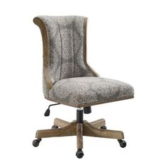 Adorn your home office with the sleekly stylish Linon Ella Upholstered Adjustable Height Office Executive Chair . This office chair boasts construction. Office Chairs Walmart, Swivel Office Chair, Executive Chair, Victorian Decor, Brown Wood, Office Furniture, Home Office, Office Desks, Living Spaces