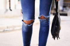 torn jeans.