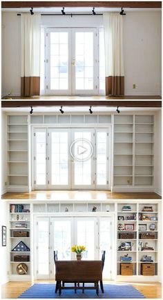 Home Remodeling Living Room Bookshelves Ideas Bookshelves Built In, Built Ins, Book Shelves, Bookshelf Styling, Bookcases, Bookshelf Ideas, Wall Shelves, Ikea Bookshelf Hack, Diy Bookshelf Wall