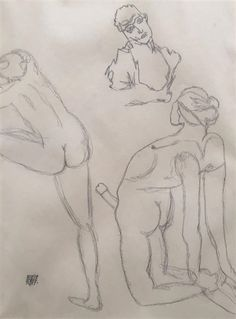 Artwork by Egon Schiele, Figure Study, Made of graphite