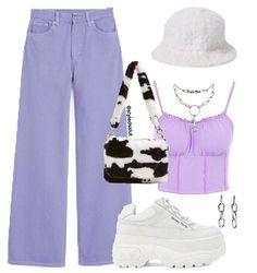 Purple Outfits, Retro Outfits, Cute Casual Outfits, Stylish Outfits, Kpop Fashion Outfits, Mode Outfits, Cute Fashion, Look Fashion, Teenager Outfits