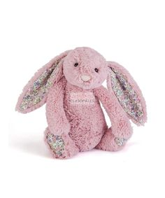 """Buy Jellycat: Bashful Bunny - Blossom & Tulip Pink at Mighty Ape NZ. Blossom Bashful Tulip Bunny Blossom Tulip Pink Bunny is so glad you came to see her! She needs another player for her new game, """"Race around the Rose. Newborn Toys, Baby Toys, Kids Toys, Newborns, Jellycat, Funny Bunnies, Pink Tulips, Little Ones, Dinosaur Stuffed Animal"""