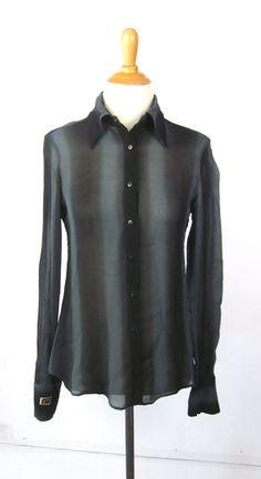 vintage 70's - 80's -Gant- Men's short sleeve 3 button collar shirt w/ locker loop. Blue / Purple color combo 'Foxhunt Plaid'. Large PCZanCXf