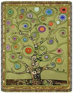 Mandala Tree of Life -Green- Tapestry