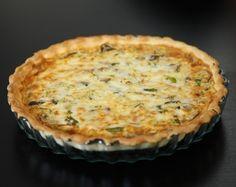 Una deliciosa receta de Quiche de setas y espárragos verdes para #Mycook http://www.mycook.es/receta/quiche-de-setas-y-esparragos/