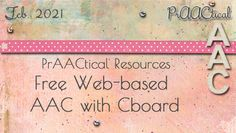 PrAACtical Resources: Free Web-based AAC with Cboard : PrAACtical AAC Social Media Search, Assistive Technology, Speech And Language, People Around The World, Apps, Base, Motivation, Learning, Studying