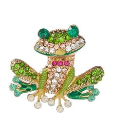 Love this Green Rhinestone Happy Frog Brooch on #zulily! #zulilyfinds