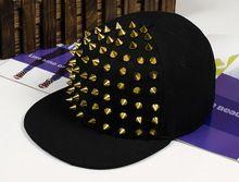 Moda punk remaches hip hop plana a lo largo gorras de béisbol visera sombreros…