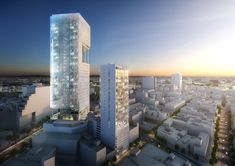 Richard Meier Unveils 180-Meter Tower Development in Mexico,Reforma Towers. Image Courtesy of Richard Meier & Partners