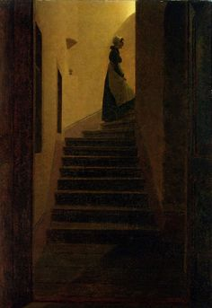 Lady On The Staircase ~ Caspar David Friedrich ~ (German 1774–1840)