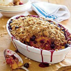 Peach-and-Blueberry Crispy Crumble | MyRecipes.com