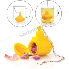 Cute Silicone Tea Infuser Loose Tea Leaf Strainer Filter Diffuser Free Shipping  #Unbranded