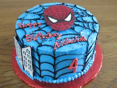Spider Man with a hand made chocolate topper