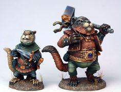 Chet, Field Squirrel Rogue, & Bolo, Marmot Warrior - Critter Kingdoms™ Anthropomorphic Animals