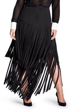 Mynt 1792 Fringe Maxi Skirt (Plus Size) available at #Nordstrom