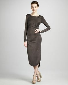 Gathered Jersey Dress by Halston Heritage at Neiman Marcus. $495 .. Mar 2013