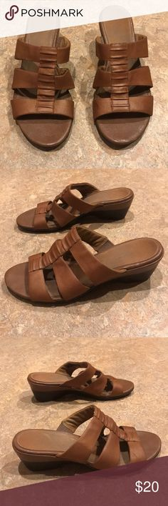 617f97591a0 UGG Whitney Wedge Leather Sandals Size 9 NWOT in 2019 | My Posh ...