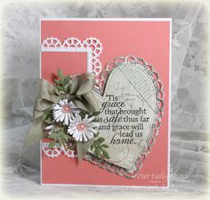 Stamps - Our Daily Bread Designs How Sweet the Sound, ODBD Custom Dies: Layered Lacey Squares, Asters and Leaves, Ornate Hearts, Fancy Foliage, Mini Tags, ODBD Soulful Stitches Paper Collection
