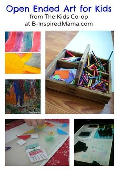 5 Open Ended Art Ideas for little ones from The Kids Co-Op at B-InspiredMama.com
