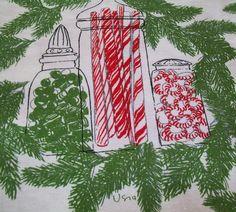 -Vintage Vera Christmas napkins
