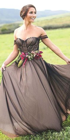 27 Black Wedding Dresses And Gowns For The Alternative Bride ❤ See more: http://www.weddingforward.com/black-wedding-dresses/ #wedding #dresses #black