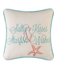 I love this pillow!! It would work really well in either a living room or a ocean/beach themed bedroom.