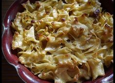 Get the Simple Noodle Kugel recipePhoto via Flickr user grongar