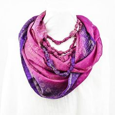 Eternal Beaded Scarf (Mixed Berry)