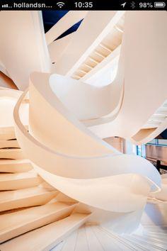 New Ideas Public Stairs Architecture Zaha Hadid Architecture Design, Beautiful Architecture, Stairs Architecture, Zaha Hadid Architecture, Installation Architecture, Organic Architecture, Architecture Interiors, Architecture Portfolio, Landscape Architecture