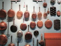 Julia Child hung her copper pots on pegboard