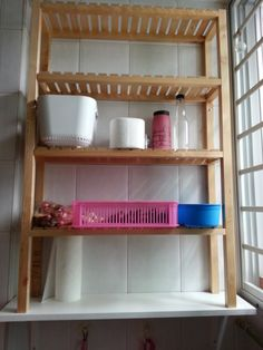 MOLGER from bathroom to kitchen shelf - IKEA Hackers